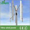 10kw eólica de eje vertical de la turbina de energía del sistema