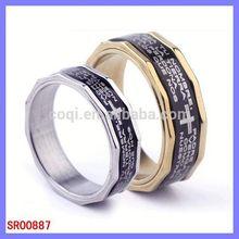 Ingrosso caldo in acciaio inox gioielli charms 1,2 carati anello di fidanzamento