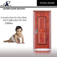 good quality exterior steel door steel fire door with panic push bar