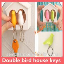2014 Handmade Funny colorful Design Cheap Wholesale spring nice garden/home bird house