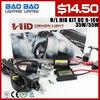 2014 hot sale DC mini hid kits xenon hid kit all in one kit 12V 35W xenon bulb h4 hi lo