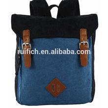 Korean blank style canvas backpack