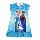 (1418#blue) 4-7Y High quality hot sale export movie frozen dress for young girls