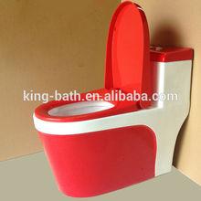 bathroom ceramic red toilet , design water closet, sanitary poecelain one piece red toilet