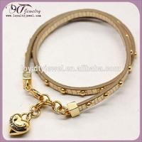 Genuine leather wrap bracelet accessories
