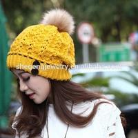 Women's Winter Warm Hats Braided Crochet Hats Ski Beanie Caps