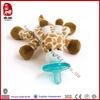 Hot sale stuffed plush animal toy giraffe baby pacifier