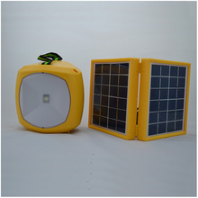 Factory supply 3W double panel portable camping solar light for children reading