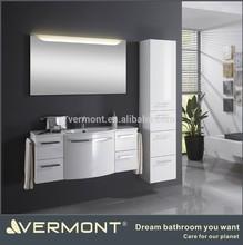 hot sale modern curved bathroom vanity import export hangzhou vermont