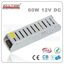 60w 5A Constant voltage 12V led driver for LED strip lights