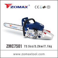 2014 ZMC7501 75CC china industrial timber cutting chain saw