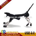 Whole Sale Plastic Transformer USB Gift 4GB Lovely Dog Shape USB Memory Disk