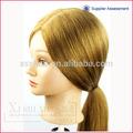 caliente de la venta al por mayor de moda del pelo humano de seda peluquería de formación de la cabeza