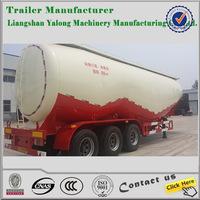 25-75m3 Used bulk cement truck,carbon black cement transportation trailer for sale