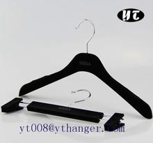 TA1144 black velvet coat hanger for clothes hangers wholesale hangers hooks