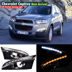 LED Daytime Running Light For Chevy Holden Captiva SUV DRL 2011 2012 2013 Signal