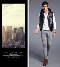 Men Winter Warm Man's Cotton Vest Fashion Waistcoat 2015 Mens Slim Casual Cotton Vest Waistcoats Padded Vest