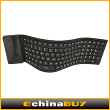 light design Chocolate slim Bluetooth keyboard portable folding soft silicone laptop keyboard, wireless keyboard 109 keys