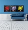 sofá ajuste flor decorativa mural de la pared cuelgan sin marco de foto