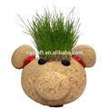 quente crescer grama boneca de cabeça em uma lata para decoração