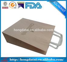 Brown or white kraft paper bag flat handle