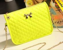 2015 Fashion Small Yellow New Model Leather Shoulder Bag Handbag Wholesale in China Shoulder Bag LF0175