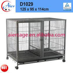 large double iron dog crate