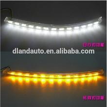 DLAND JETTA SAGITAR SPECIAL LED DAYTIME RUNNING LIGHT FOG LAMP DRL V3, WITH YELLOW TURN SIGNAL, FOR VOLKSWAGEN