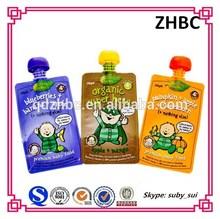 Custom design reusable Baby food pouch