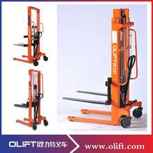 1 ton capacity 3m lifting height hydraulic hand manual Stacker