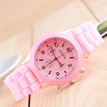 Promotion Fashion Cheap Geneva silicone Jelly watches
