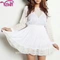 blanco largo de encaje mujer faldas de mezclilla