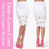 sexy hot White Hook Flower Crochet Pencil skirts