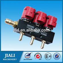 /glp gnc inyector de ferrocarril 3 cyl negro para gnc/secuencial de glp kit de combustible
