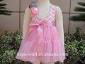 Alibaba atacado moda rosa da menina crianças e bebê rosa vestido de festa made in china KP-VR004