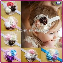 China Supplier in-stock 2015 Latest popular Fancy korean baby headband wholesale flower baby headband