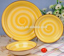 hp rainbow design luxury dinner plate and dinner set for family