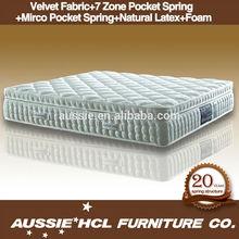 wholesale suppliers bed latex box spring mattress(AL-1)