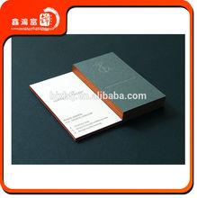 edge color business cards / eco friendly / white color