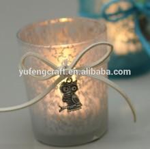búho romántico para las columnas de la decoración de la boda de vela de cristal