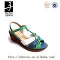Caliente venta del deslizador de la hebilla 2014 para mujer zapatos de cuña de las sandalias de eva