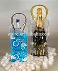 PVC cooler ice bag for wine, wine bottle gel cooler bag