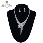 2014 Top sale fashion jewellery necklace set gold covering fashion jewellery