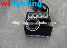Amber Mirror License Plate Dashboard Visor High Power 4 LED Emergency Warning Safety Strobe Light LED Panel w/ Memory Function