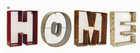 China Home Decor Wholesale Metal Words HOME