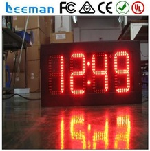 """red led 15"""" digit gas price sign numbers led wall digital clock sign"""