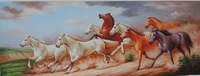 hand painted horse painting on canvas With Frames Stretched Home Decoration