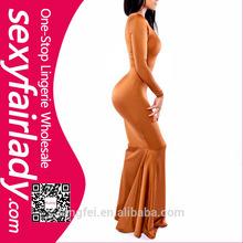 high quality ladies long sleeves fashion prom dress