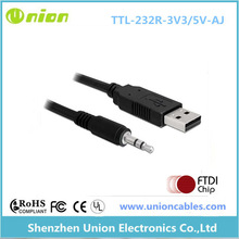 USB virtual com port converter cable, USB RS232, USB TTL, USB RS485 to 2.5mm 4C audio jack cable