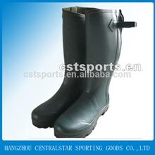 camo men natural rubber rain boots with zipper